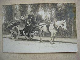 92 BOURG LA REINE Carte Photo Attelage De Livraison Biere GRUTLI Entrepot Des Pépinieres Brasserie Des Moulineaux - Bourg La Reine