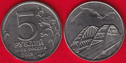 """Russia 5 Roubles 2019 """"Referendum, Crimea's Reunion With Russia"""" UNC - Russie"""