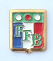 Pin's Blason FFB - Fédération Française De Billard - Boules De Billard - Drapeau Français - H511V - Billiards