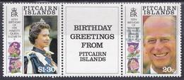 Pitcairn 1991 Geschichte History Persönlichkeiten Königshäuser Royals Königin Elisabeth II. Queen Prinz, Mi. 381-2 ** - Briefmarken