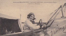 MADEMOISELLE MARIE MARVINGT / A BORD DE SON MONOPLAN / DEDICACEE - ....-1914: Précurseurs