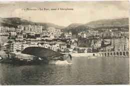 CPA MONACO LE PORT, ESSAI D'AEROPLANES. Carte A Circulé En 1920 - Port