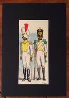 UNIFORMI MILITARI  REGNO DI NAPOLI 1812 7 REGG. FANTERIA AFRICANO  Di TONEATTO 1971( 7,5x16)  CON AUTOGRAFO - Uniforms