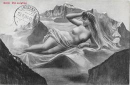 DIE JUNGFRAU → Künstlerkarte Anno 1909 - BE Berne