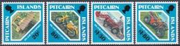 Pitcairn 1991 Transportmittel Motorad Motorräder Motorbike Motorcycle Planierraupe Bulldozer Radlader, Mi. 383-6 ** - Briefmarken