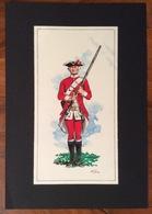 UNIFORMI MILITARI   NAPOLI 1765  REGG. R.NAPOLI  Di TONEATTO 1971( 9,5x18)  CON AUTOGRAFO - Uniform