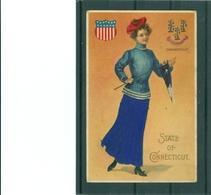 Relief - Gaufrée - Embossed - Prage - Blason - Femme Robe En Tissus - TBE - United States