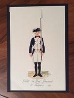 UNIFORMI MILITARI SOLDATO REGG.PROVINCIALE DI AQUI 1799  (14x22)  Di R.VELA 84 - Uniforms