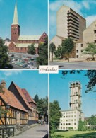AM30 Aarhus Multiview Postcard Inc Cathedral, Library, Town Hall - Denmark