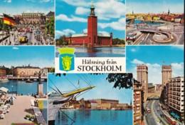 AM30 Halsing Fran Stockholm - Multiview Postcard - Sweden