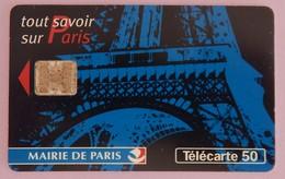 """TÉLÉCARTE 09/97 SANS UNITÉ """"MAIRIE DE PARIS""""500 000 EXEMPLAIRES - Frankrijk"""