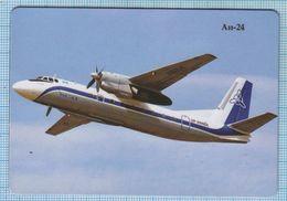 UKRAINE / Flexible Magnet / Aviation. Turbo-propeller Passenger Plane AN-24. Coke. Antonov. - Transport