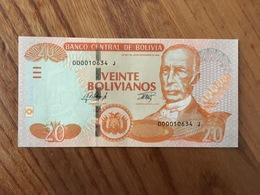 BOLIVIE 20 Bolivianos - Ley 901 Del 28 De Noviembre 1986 - Serie J - UNC - Bolivia