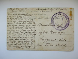 1914 RUSSIA WW I POLAND STOPNICA MILITARY FIELDPOST CANCEL   ,  OLD POSTCARD , O - 1857-1916 Empire