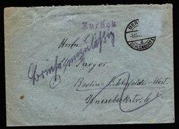 A6041) Berlin Brief Zehlendorf 05.10.45 ? N. Lichterfelde Marke Entfernt Unzulässig - Bizone