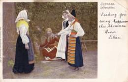 AQ23 Skansen, Offerkallan, Sweden - Ladies In Traditional Costume, Undivided Back - Sweden
