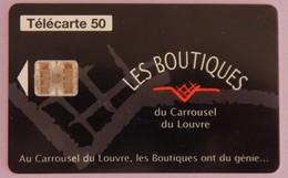 """TÉLÉCARTE 08/97 SANS UNITÉ """"LES BOUTIQUES DU CARROUSEL DU LOUVRE"""" 500 000 EXEMPLAIRES - Frankrijk"""