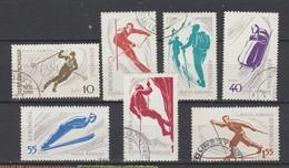 ROUMANIE  1961  Aérien   N° 127 /133  Oblitéré  (7 Valeurs) Série Compléte  SKI - Oblitérés