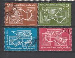 ROUMANIE  1962  Aérien   N° 162 / 165  Oblitéré  (4 Valeurs) Série Compléte - Oblitérés