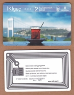 AC - SUBWAY, METRO, BUS, TRAM, FERRY DOUBLE RIDING CARD BOSPHORUS BRIDGE - GLASS OF TEA ISTANBUL, TURKEY - Transportation Tickets