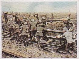 Sammelbild Eckstein-Halpaus Dresden - Der Weltkrieg 1918 - Bahnbau Im Kampffeld - Frankreich - Nr. 186 (40460) - Zigarettenmarken