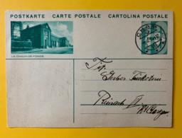 8203 -Illustration La Chaux De Fonds Oblitération Cham 09.10.1934 - Interi Postali