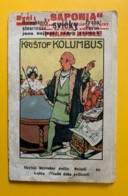 """8210 - Christophe Colomb Petit Dépliant Illustré Indien Cachet Rouge """"Saponia"""" Prague Praha - Vieux Papiers"""
