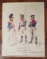UNIFORMI MILITARI  TRUPPE STRANIERE AL SERVIZIO FRANCESE ARMES DE ESPAGNE INFANTERIE COLONAISE 1809-1811  Di Boisseuer - Uniformes