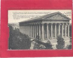 PARIS - LA MADELEINE + TRES LONG HIST SUR RECTO . CARTE DETACHEE D'UN CARNET BORD GAUCHE ABIME . AFFR LE 18-4-1934 . 2 S - Autres Monuments, édifices