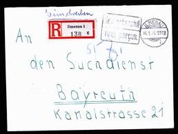 A6042) SBZ R-Brief Barfrankatur Ilmenau 16.01.46 Schwarzer Stempel - Sowjetische Zone (SBZ)