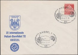 Allemagne 1972. Entier Timbré Sur Commande, 27. Internationale Polizei-Sternfahrt Kassel - Police - Gendarmerie