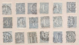 132 Semeuse 25c X18 Expl - Obl Divers - 1903-60 Semeuse Lignée