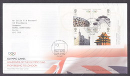 Great Britain 2008 Olympic Handover From Beijing To London FDC - FDC