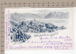Souvenir De Pully (1922) Tram / Tramway / Trolley Car / Tramcar / Streetcar - VD Vaud
