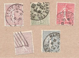 129 / 133 Semeuse  Obl - 1903-60 Semeuse Lignée