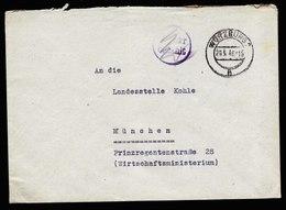 A6044) Bizone Brief Barfrankatur Würzburg 20.05.46 - Bizone