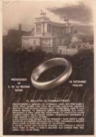 1935-messaggio Di S.M.la Regina Elena, Cartolina Viaggiata - Militaria