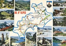 05 Carte Du Département Des Hautes Alpes (2 Scans) - France