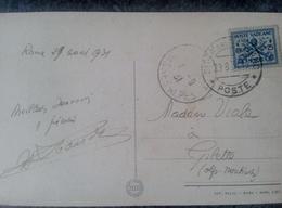 Timbre POSTE VATICANE PIE XI Sur Carte Postale  Roma Basilica Di S. Pietro Aldo Raimondi - Lettres & Documents