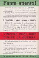 1920ca.-Fante Attento! Cercano Di Rovinare Te E L'Italia - Militaria