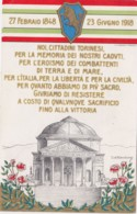 1918-Giuramento Dei Cittadini Torinesi, Cartolina Viaggiata - Militari