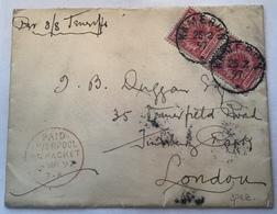 """KAMERUN 1897"" Vorläufer Mi V47 Brief S.S TENERIFFE Via ""LIVERPOOL BR PACKET"" > London (Cameroun Lettre Cover Ship Mail - Kolonie: Kamerun"