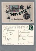"""18 Bourges """" Souvenir De Bourges, En Médaillon La Cathédrale. Carte Glacée - Bourges"""