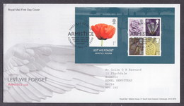 Great Britain 2008 WWI Lest We Forget  FDC - FDC
