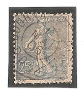 132 Obl Journeaux - Semeuse 25c - 1903-60 Semeuse Lignée