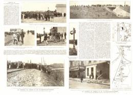 """LES EMEUTES De  """" VIGNEUX  """" Et De   """" VILLENEUVE-SAINT-GEORGES """"  1908 - Ile-de-France"""