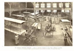 """L'ATELIER DE CONSTRUCTION D'AEROPLANES Des FRERES """" VOISIN """" à BILLANCOURT Prés De PARIS  1908 - Transportation"""