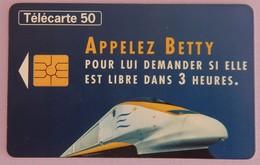 "TÉLÉCARTE 07/97 SANS UNITÉ ""APPELEZ BETTY EUROSTAR"" - Frankrijk"