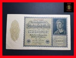GERMANY 10.000 10000 Mark  19.1.1922  P. 72  XF - [ 3] 1918-1933 : República De Weimar