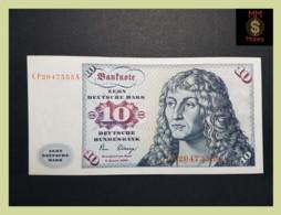 GERMANY REPUBLIC FEDERAL 10 Deutsche Mark  2.1.1980  P. 31 D  VF+ - [ 6] 1949-1990 : RDA - Rep. Dem. Alemana